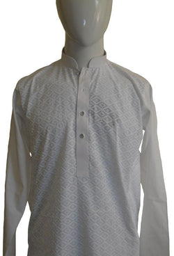 Pearly White Embroidered Shalwar Kameez
