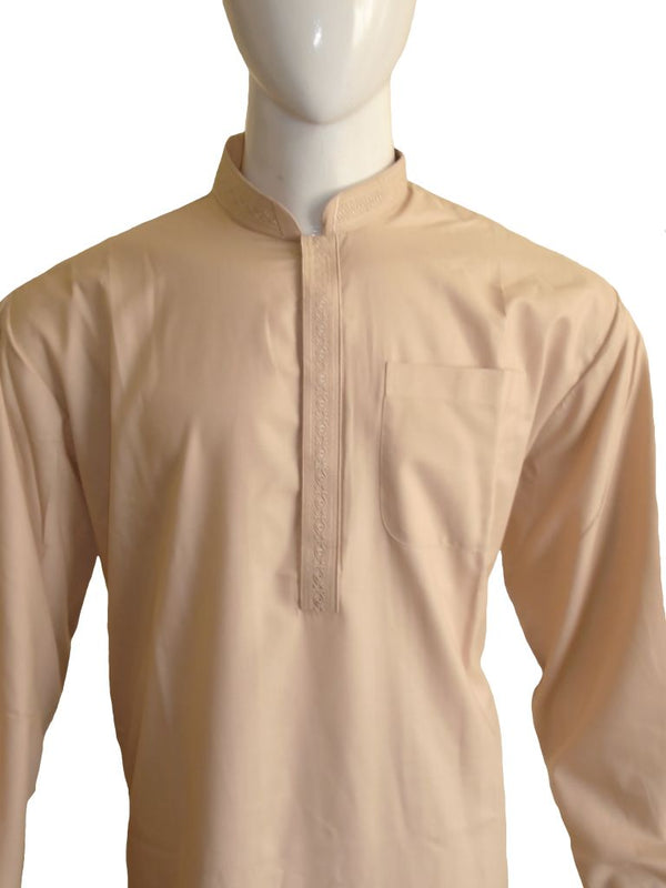 Beige Embroidered Shalwar Kameez