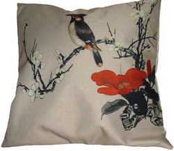 Beige Pair of Cushions