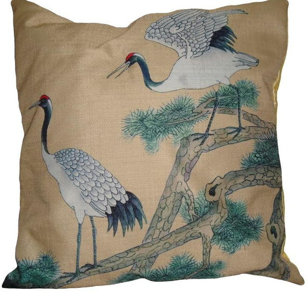 Birds in Flight Pair of Cushion Covers