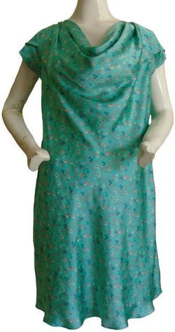 Sea Green Silk Dress