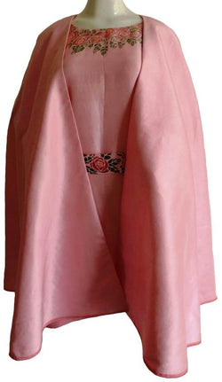 Pink Hand Painted Cape Dress