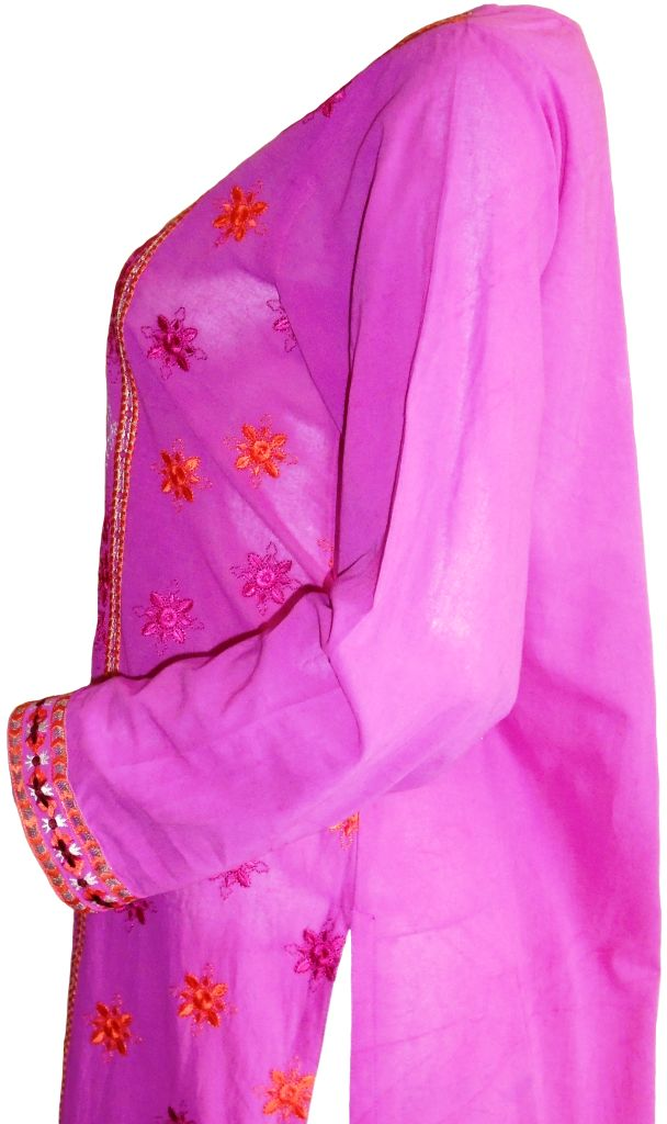 Shocking Pink Lawn Kurta