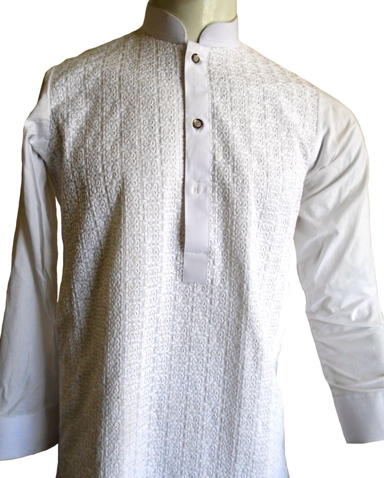 White Chicken Shalwar Kameez