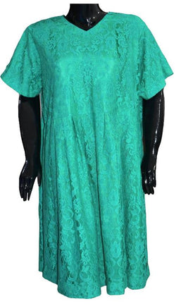 Bright Green Lace Dress