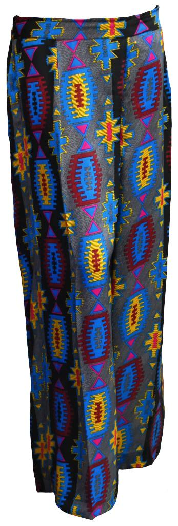 Abstract Wide Legged Trousers