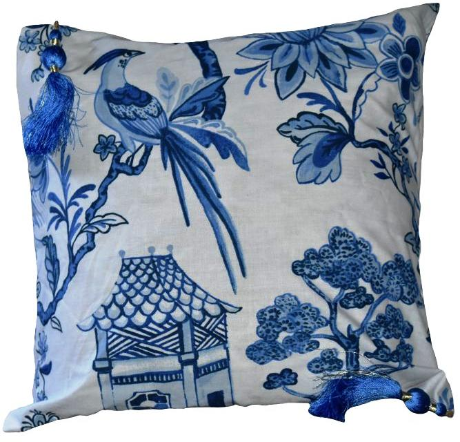 Blue and White Cushion Covers