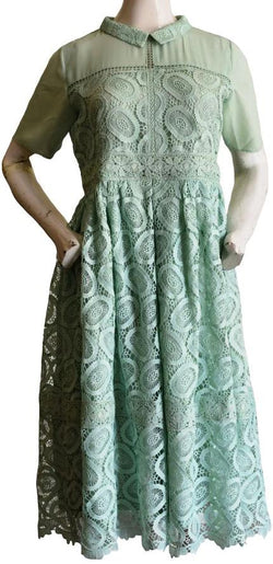 Sea Green Lace Dress