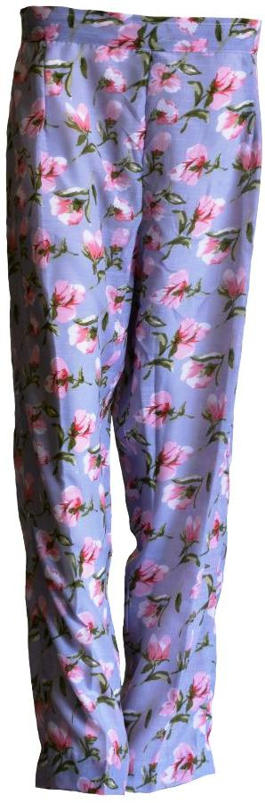 Floral Silk Trousers