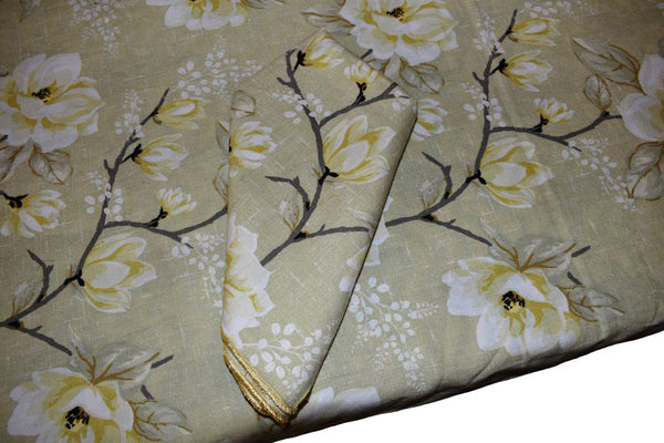 Lemon Yellow Printed Table Cloth