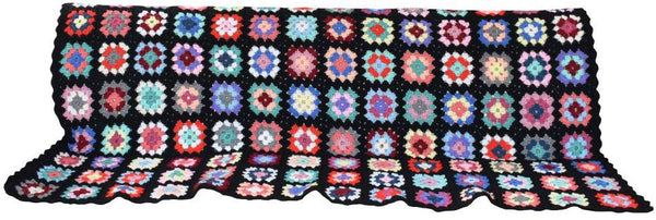 Crotched Colourful Woolen Throw