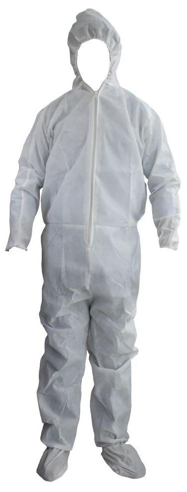 Hazmat suits, surgical masks and gloves