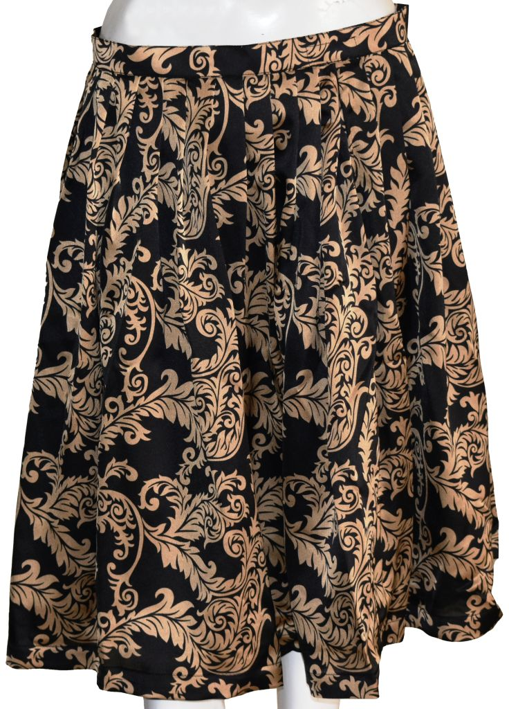 Black and Gold Formal Skirt