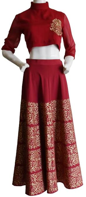 Maroonish Red Lehenga Choli Set