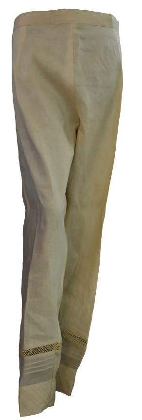 Beige Cut Out Trousers