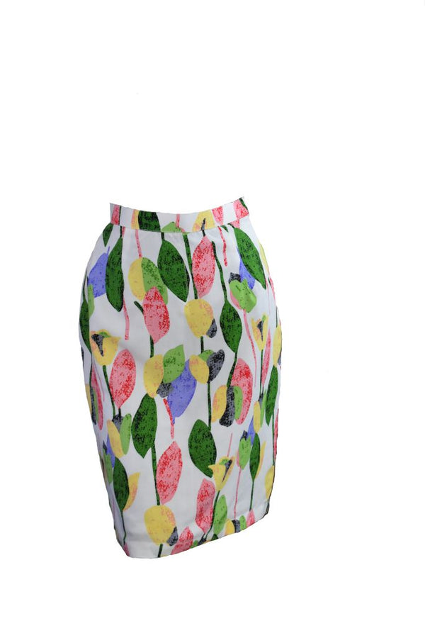 Linen colourful skirt