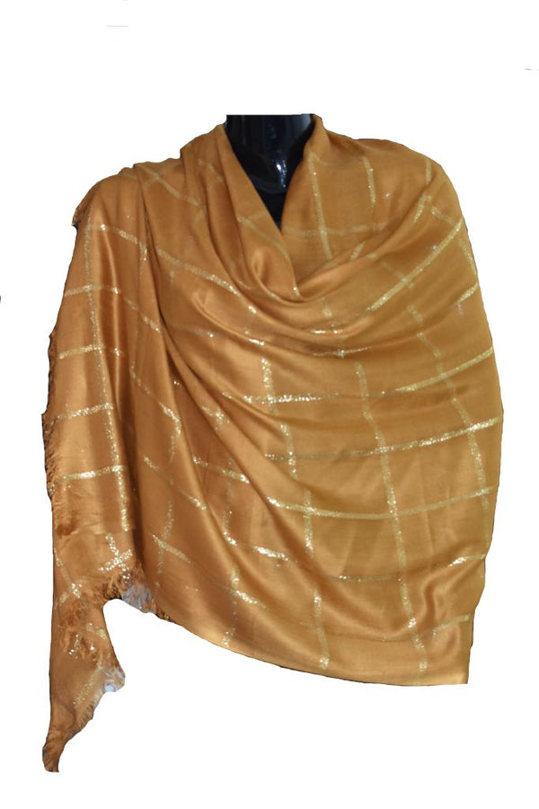 Gold thread scarf