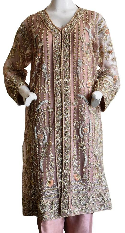Swaroski and Sequin Formal Coat Ensemble
