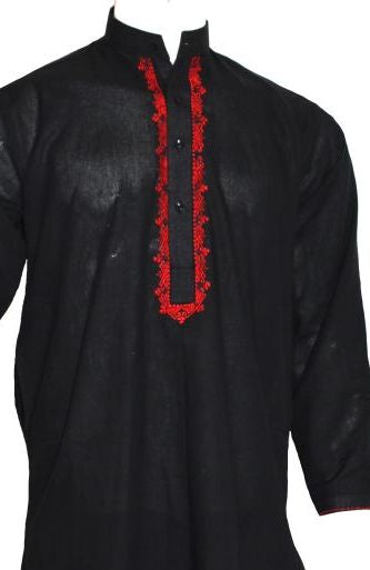 Black Embroidered Shalwar Kameez