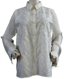 White 3D Collar Shirt