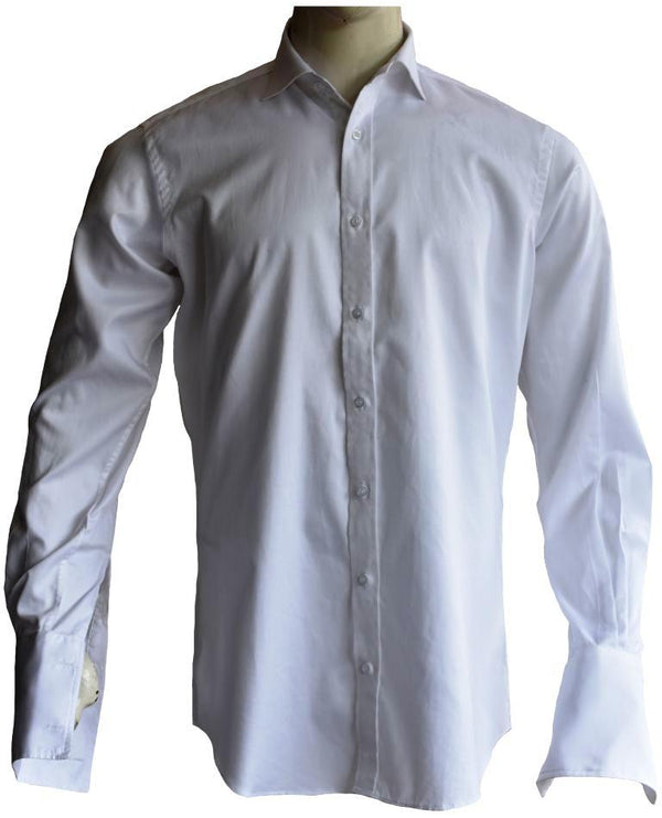 Herringbone White Shirt