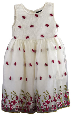 Pink and White Frock
