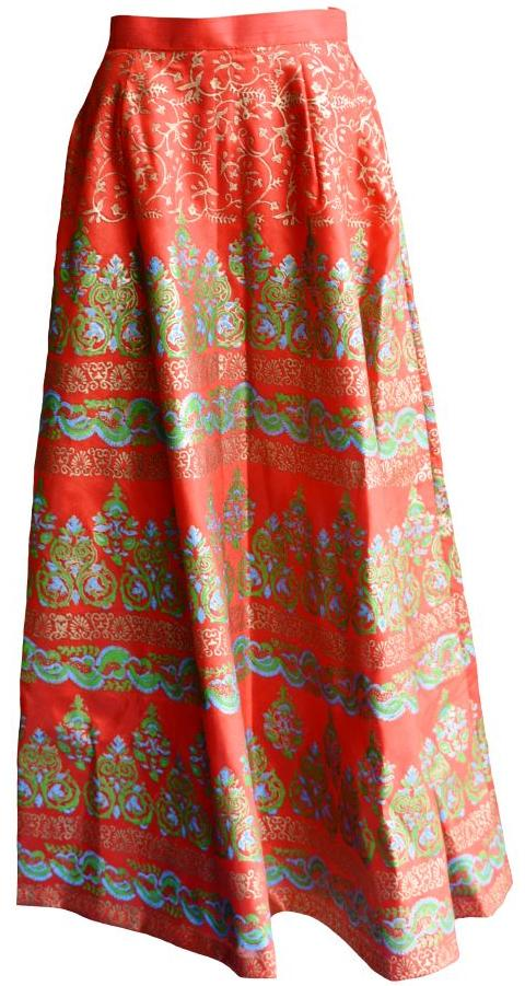Pillar Box Red Lehenga