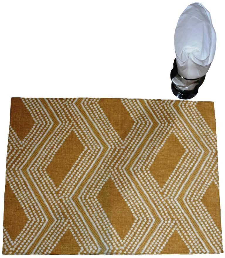 Gold and White Tablemat Set