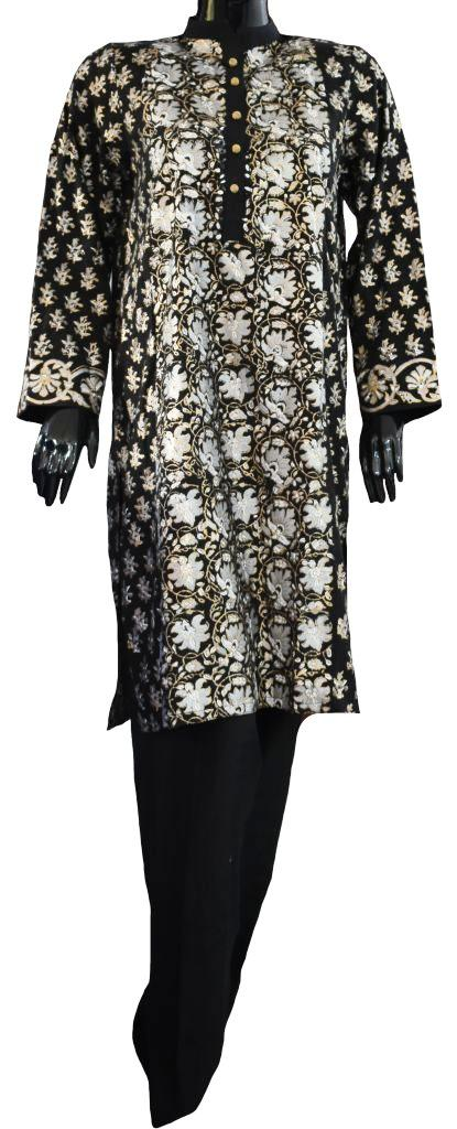 Black and Gold Block Print Ensemble