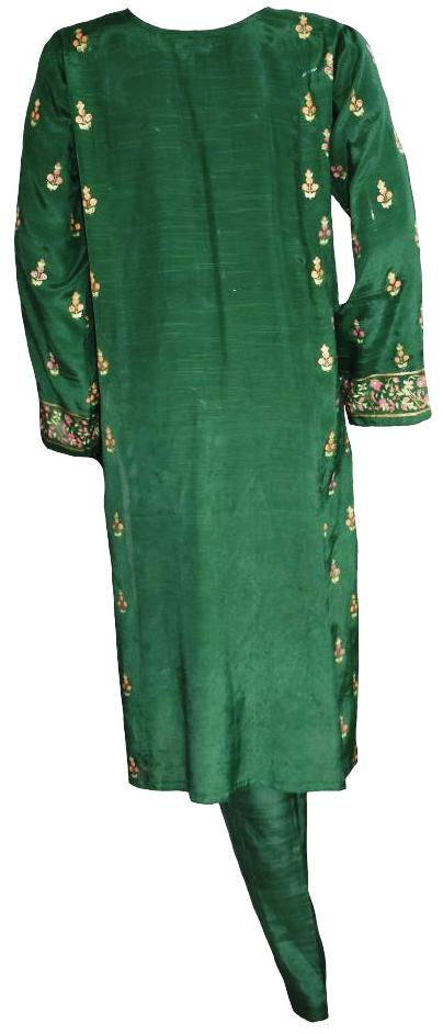 Dark Green Block Print Suit