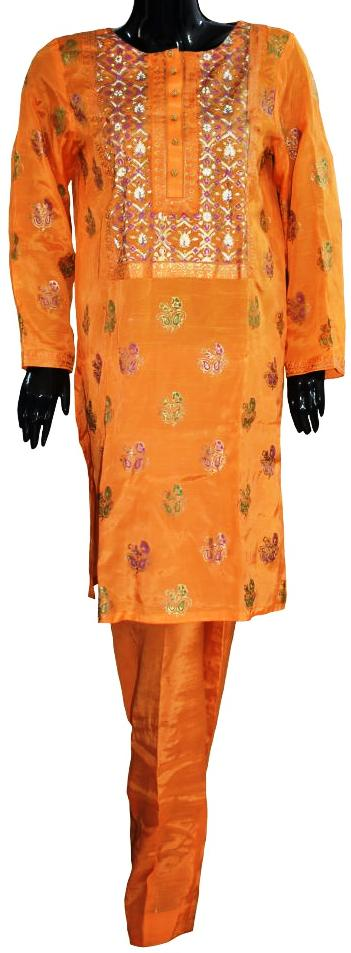 Orange Block Print Ensemble