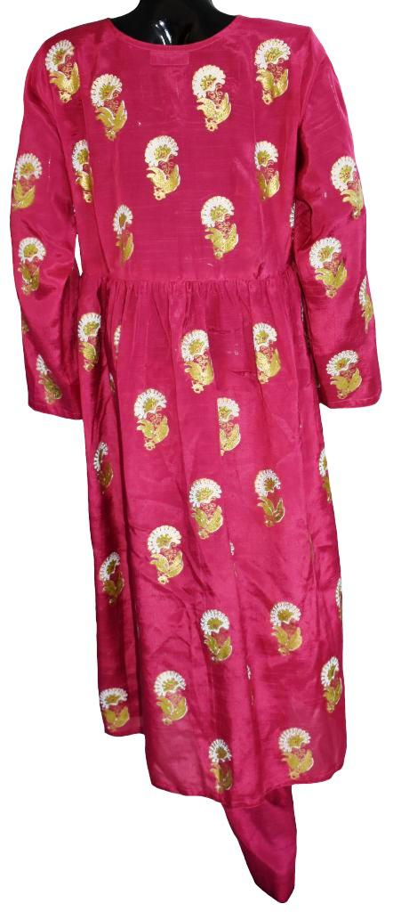 Vibrant Pink Block Printed Ensemble