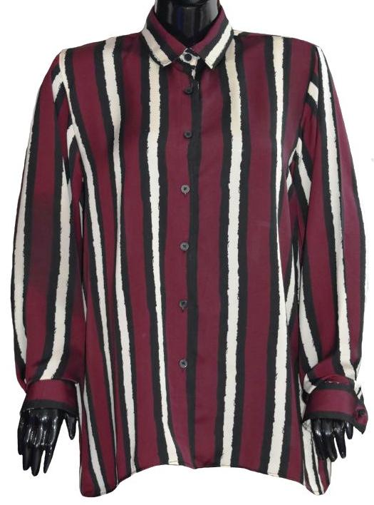 Maroon Striped Shirt