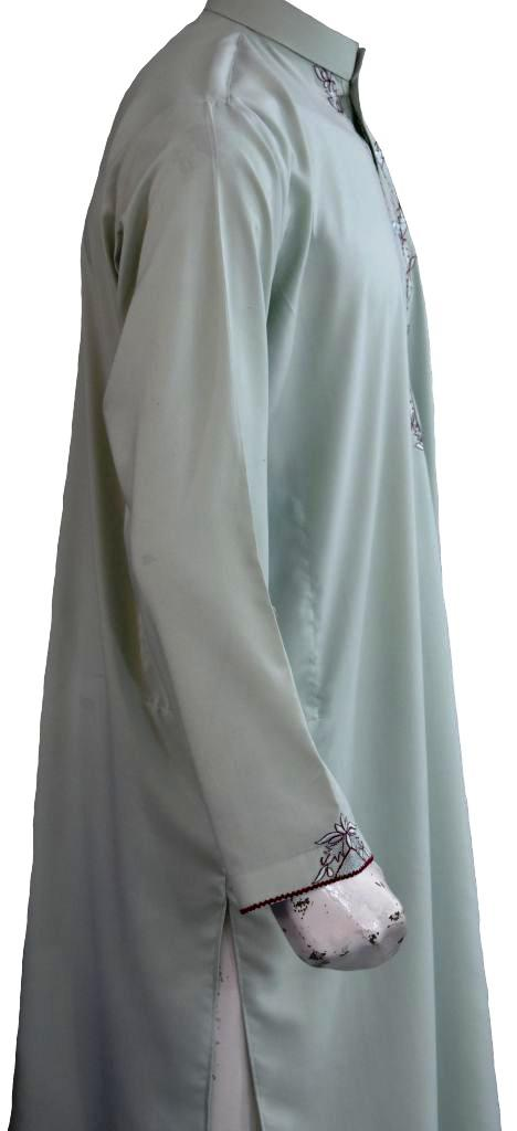 Green Embroidered Kurta