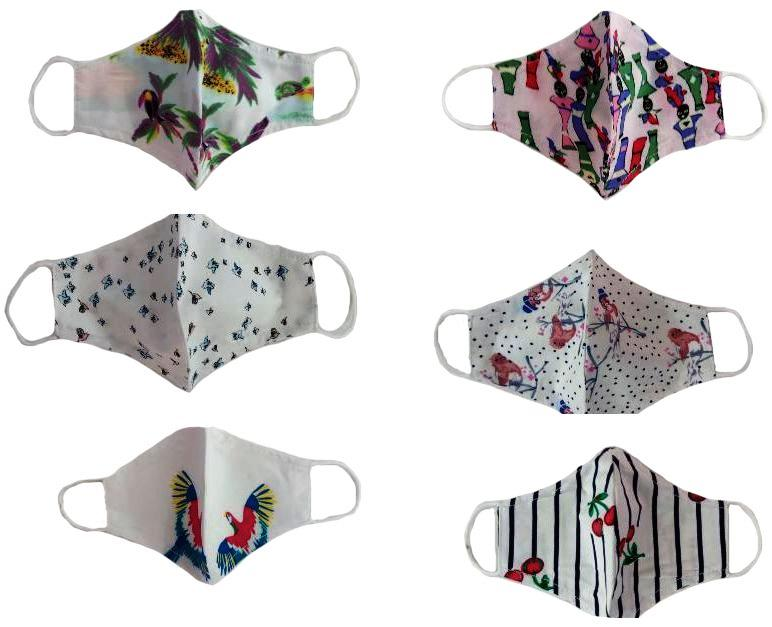 N95 and rectangular shaped fabric masks