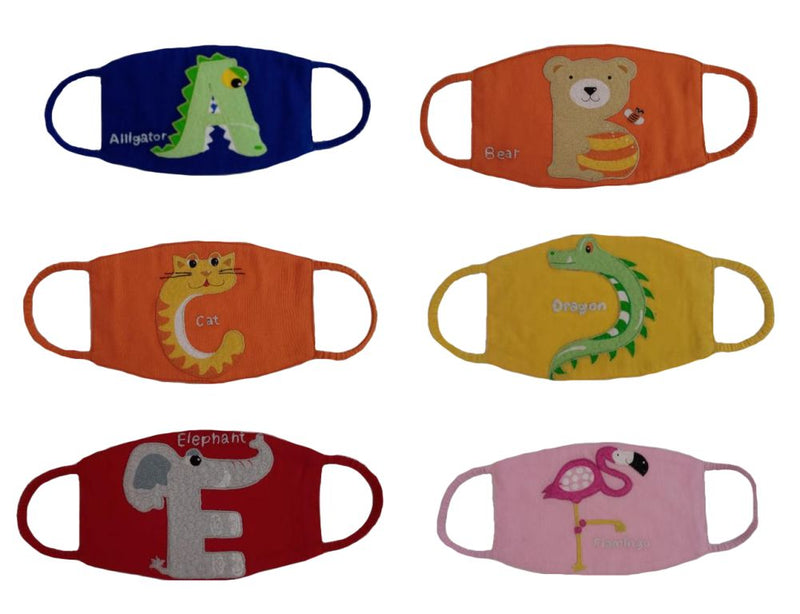 Alphabet, Frozen, Sponge Bob, Ballerina and Funky Animal Masks