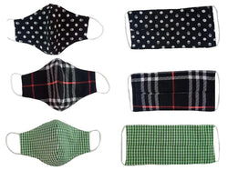 Checks, polka dot, tartan, nautical and skull masks