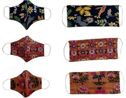 Monochrome and floral masks