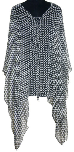 Black and white kaftan