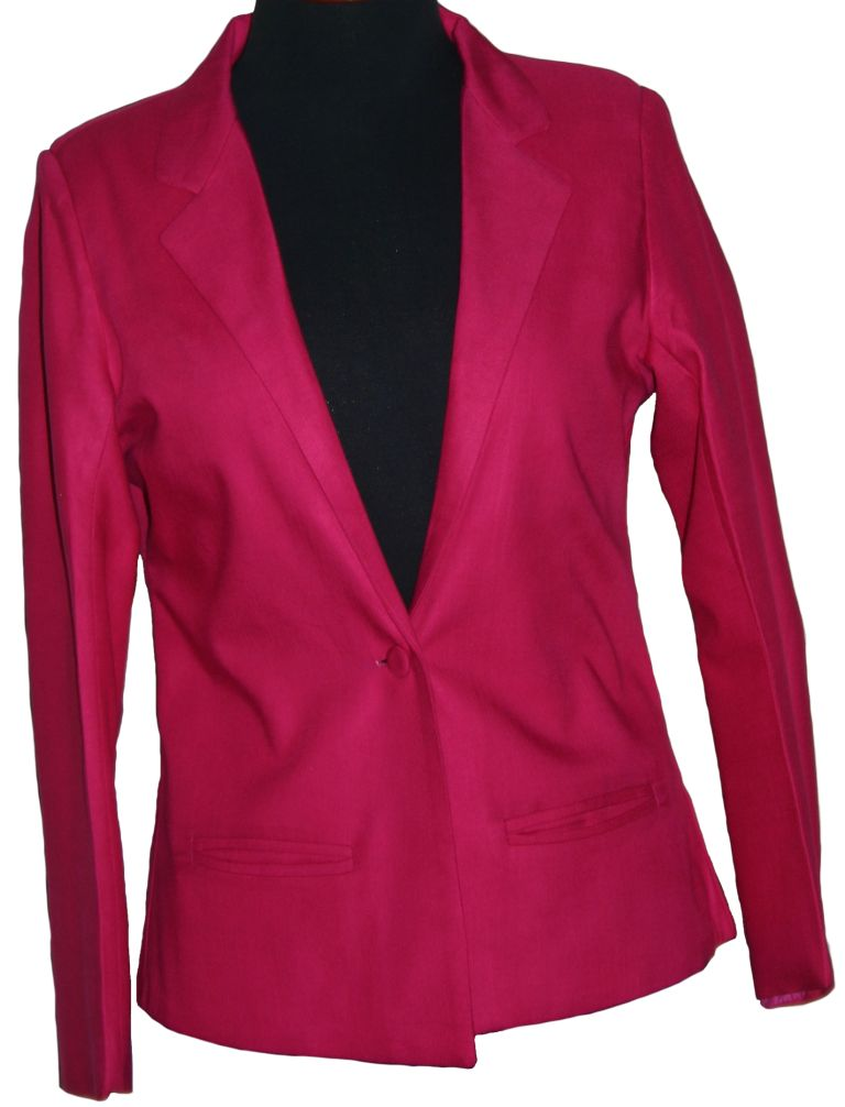 Shocking pink blazer