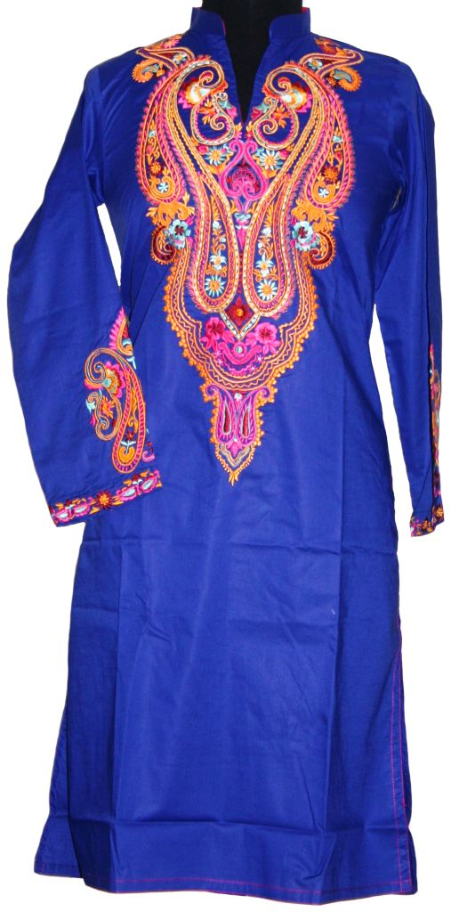Ink blue kurta