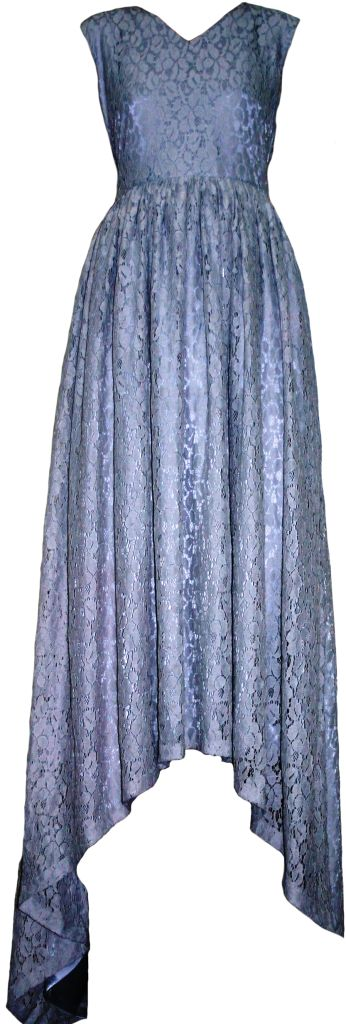 Silver Full Length Gown