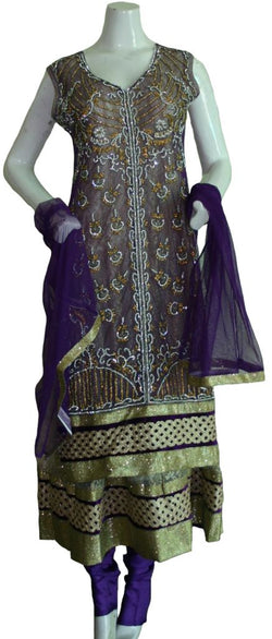 Purple Sequin Anarkali