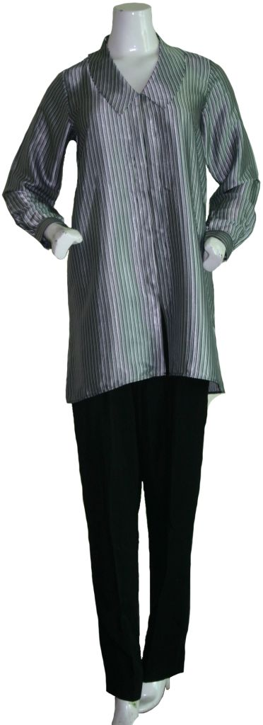 Black Stripe Tunic Set