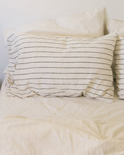 Load image into Gallery viewer, Hemp Pillowcase - Jaipur Olive Stripe