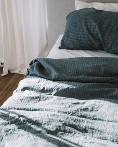Hemp Pillowcase - Jodhpur Blue Stripe