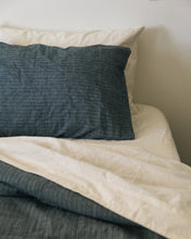 Load image into Gallery viewer, Hemp Pillowcase - Jodhpur Blue Stripe
