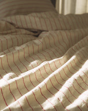 Load image into Gallery viewer, Hemp Duvet - Red Clay Stripe