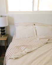 Load image into Gallery viewer, Hemp Flat Sheet - Red Clay Stripe