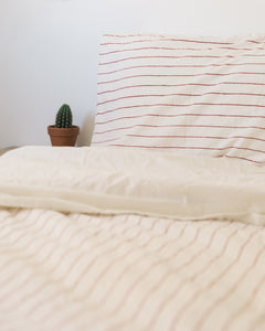 Hemp Pillowcase - Red Clay Stripe